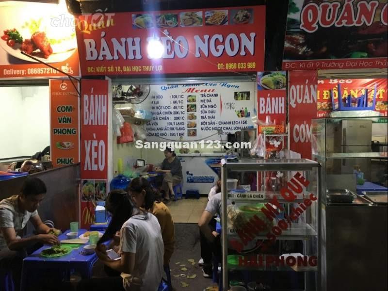 Nhượng lại kiot bán đồ ăn vặt Đại học Thủy Lợi, Hà Nội