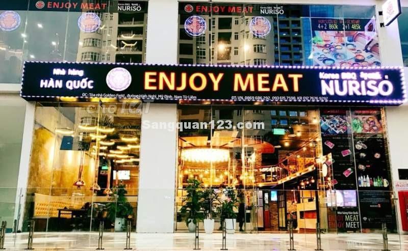 Sang nhượng nhà hàng Hàn Quốc đang hoạt động tốt