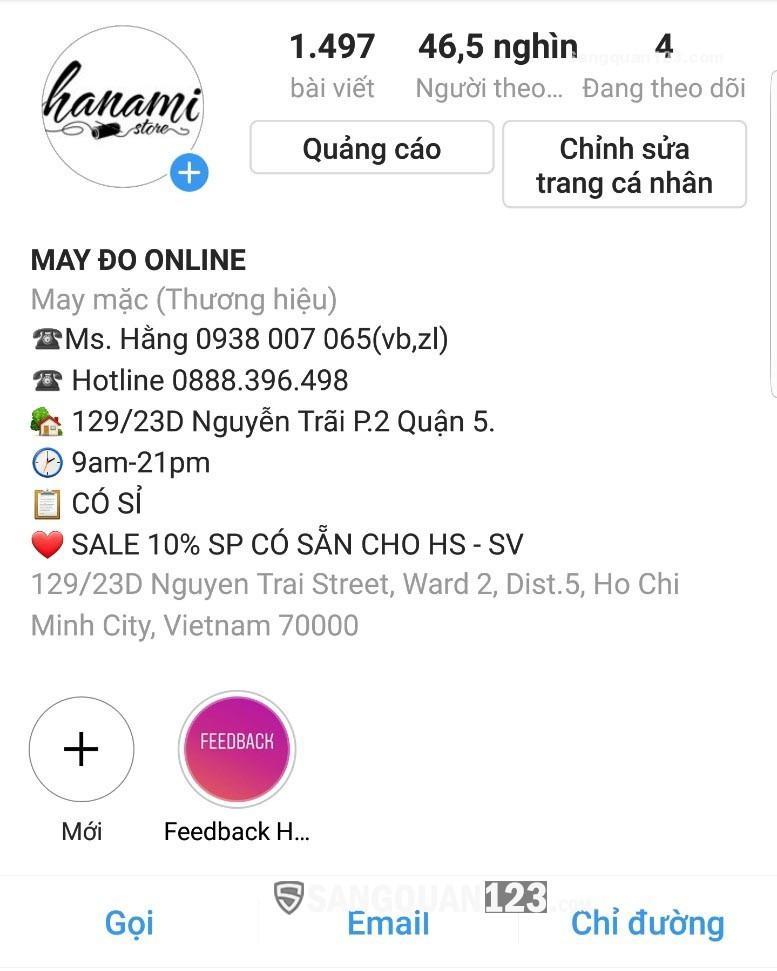 Cần sang nhượng gấp Shop quần áo đường Nguyễn Trãi, Quận 5. Giá 255 triệu