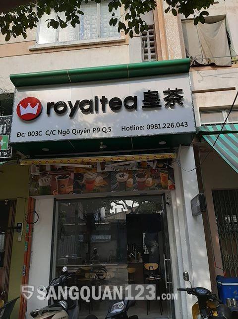 Sang quán trà sữa thương hiệu tại trung tâm quận 5