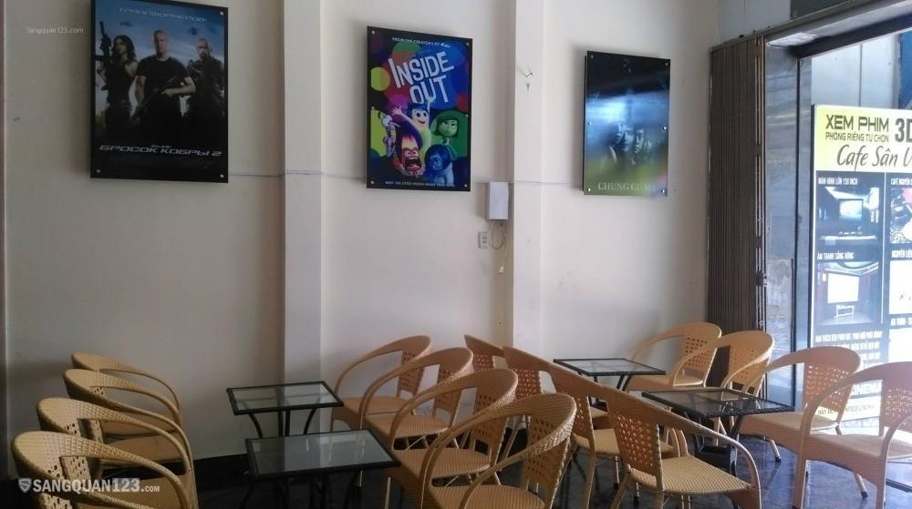 Sang quán Cà phê sân vườn - Phòng phim tự chọn 3D/HD
