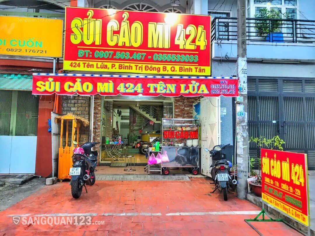Sang quán ăn mặt tiền đường sạch đẹp, rộng rãi, thoáng mát