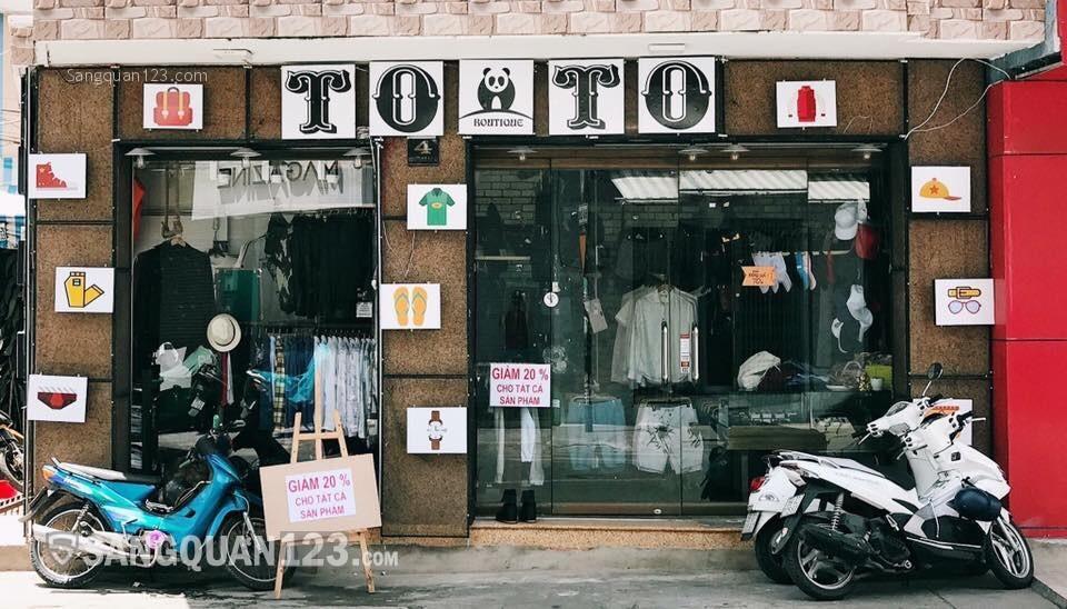 Sang shop 2 mặt tiền ngay cách mạng tháng 8 giá 75 tcho thuê 3 năm ko lên giá