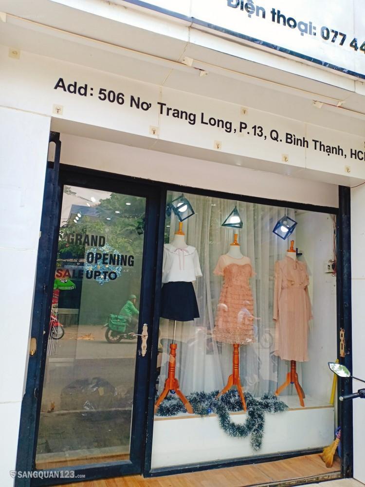 Sang shop thời trang tại 506 Nơ Trang Long quận Bình Thạnh