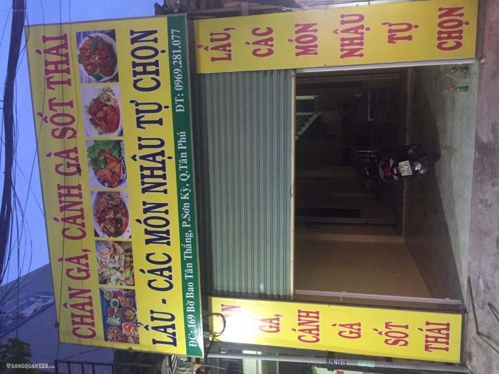 Sang nhượng gấp quán ăn nhậu gần Aemall Tân Phú