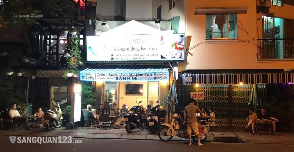 CHÍNH CHỦ SANG QUÁN COFFEE KHU ĐÔNG ĐÚC 2 CHIỀU 840 TRƯỜNG SA QUẬN 3