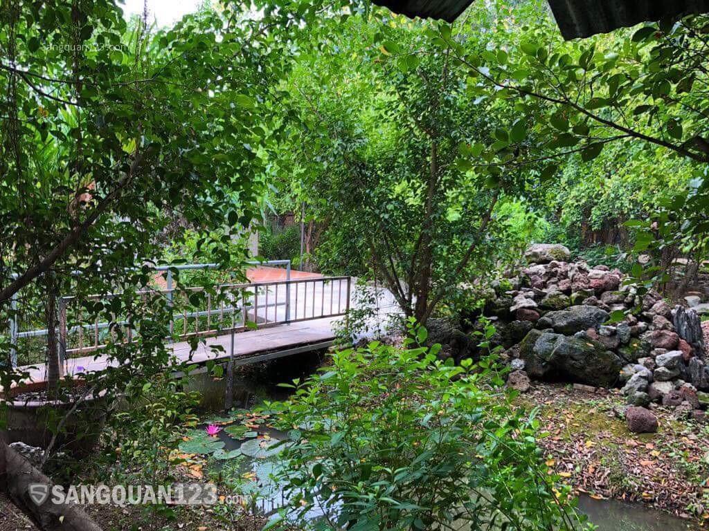 Cần sang gấp quán ăn sân vườn vị trí đẹp và thoáng mát.