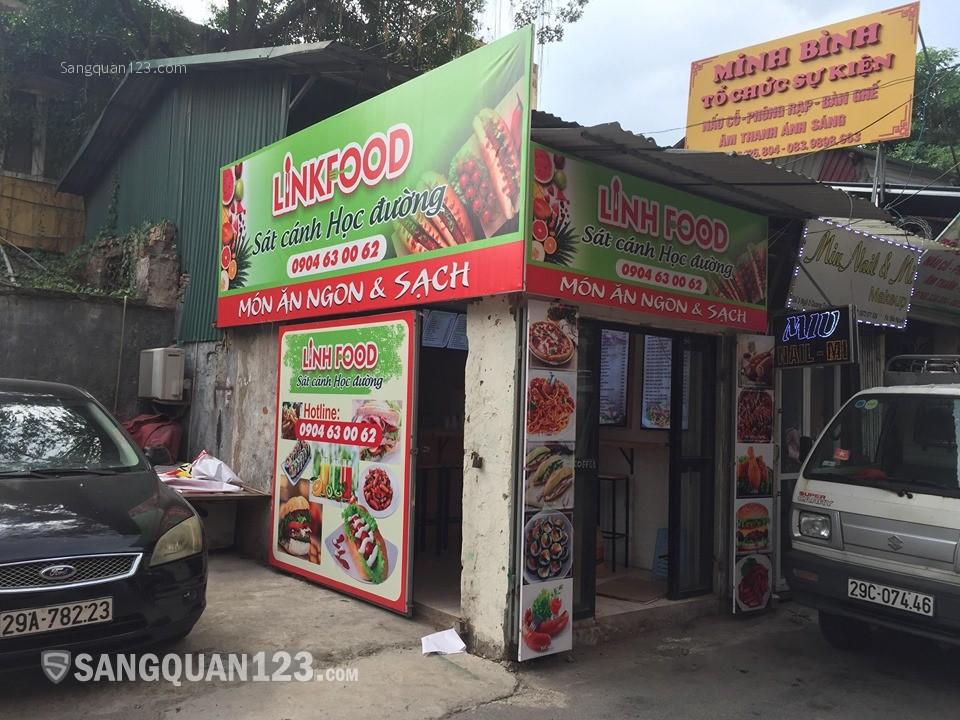 Sang Nhượng toàn bộ cửa hàng  đồ ăn uống nhanh đông khách