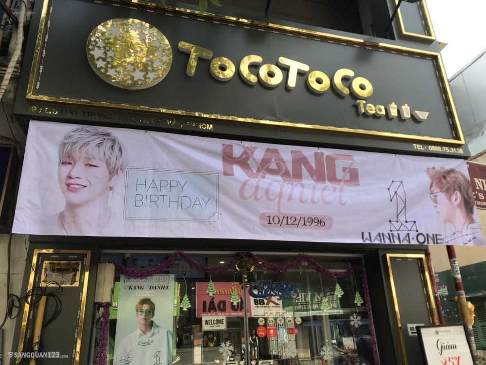 Sang quán trà sữa hoạt động tốt Tocotoco Quang trung