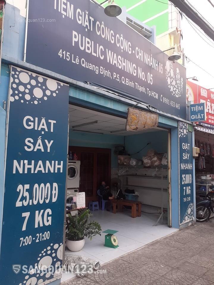 Sang nhanh tiệm giặt ủi mặt tiền Lê Quang Định, Bình Thạnh