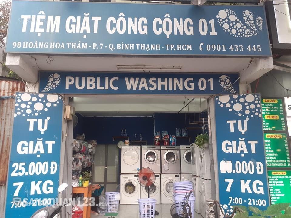 Sang tiệm giặt ủi mặt tiền đường quận Bình Thạnh