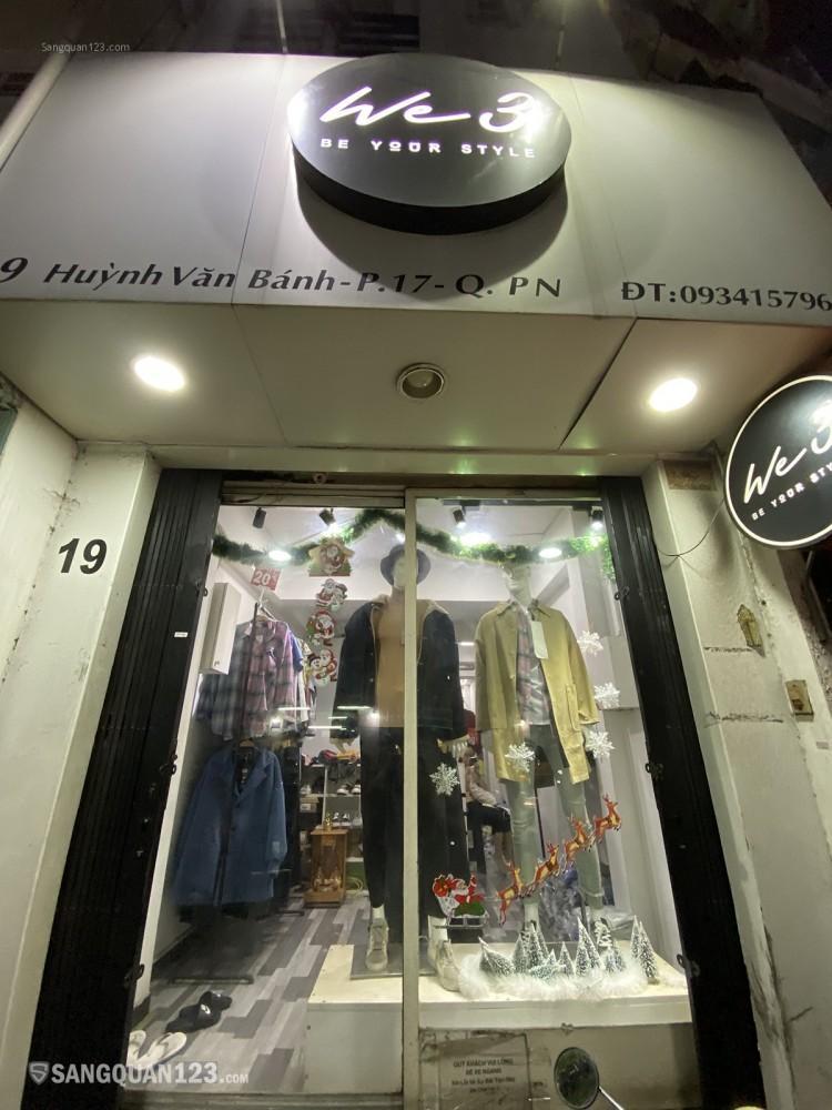 Sang shop 19 huỳnh văn bánh, phú nhuận, giá 85 triệu, 28m2  giá thuê 7.5 triêụ