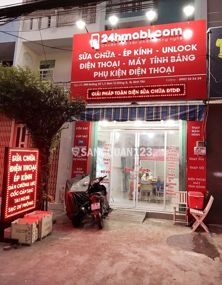 Sang Cửa Hàng Điện Thoại Đẹp - Mặt Tiền - Giá Thuê Rẻ ngay Aeon Bình Tân Khu Tên Lửa