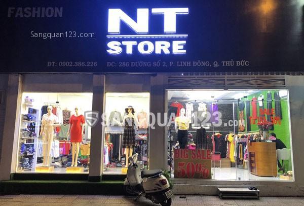 Sang shop thời trang mặt tiền đường số 2, Linh Đông, Thủ Đức