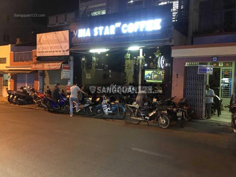 Sang quán cafe mặt tiền quận Bình Thạnh