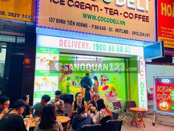 Cần sang tiệm Kem - Cà phê COCODELI đường Đinh Tiên Hoàng, Quận 1