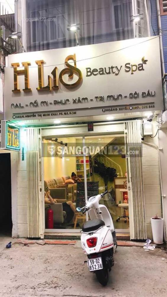 Sang nhượng HLIS Spa-Nail-Mi đường Nguyễn Thị Minh Khai P5 Q3